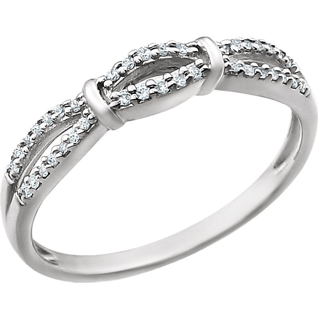 14K White 1/8 CTW Diamond Anniversary Band