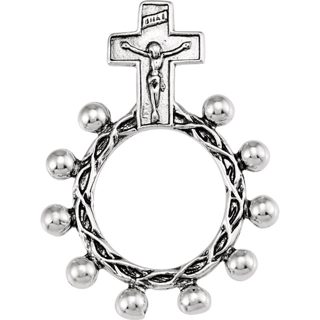Sterling Silver Rosary Ring