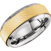 Comfort-Fit Tungsten & Karat Gold Inlay Band
