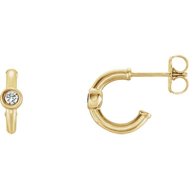 14K Yellow Sapphire J-Hoop Earrings