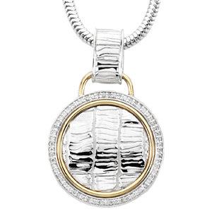 Necklace / Chain , Accented Alligator Skin Design Necklace