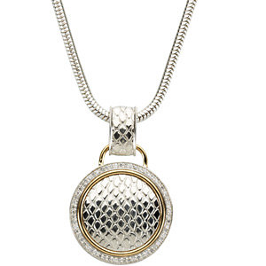 Necklace / Chain , Accented Snake Skin Design Necklace