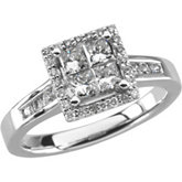 Cluster-Style Engagement Ring or Band