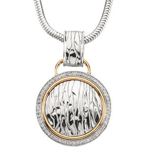 Necklace / Chain , Accented Elephant Skin Design Necklace