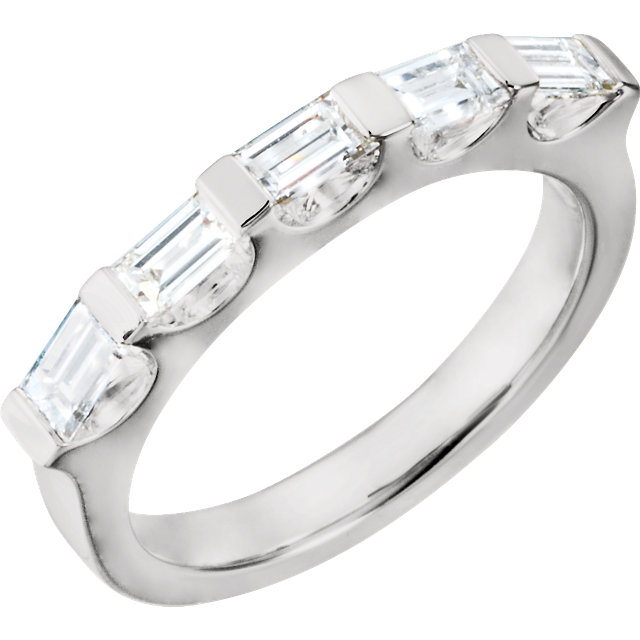14K White 9/10 CTW Diamond Anniversary Band