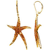 Multi-Gemstone Starfish Earrings