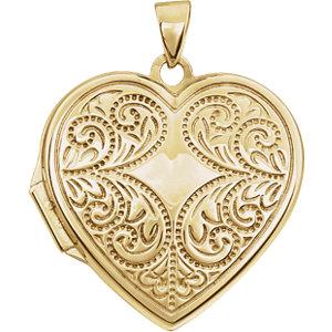 14K Yellow Heart Locket