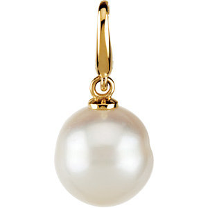 Freshwater Cultured Circle Pearl Charm