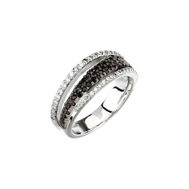 Black Spinel & Diamond Ring