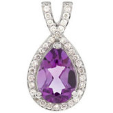 Diamond Halo-Style Semi-Set Pendant