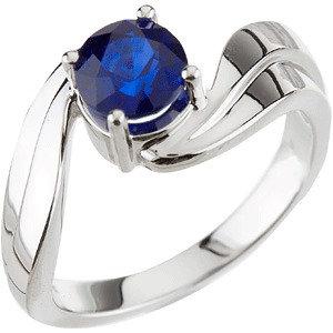 Fashion Rings , Genuine Blue Sapphire Ring