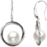South Sea Cultured Pearl & Diamond Earrings or Semi-mount