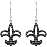 Black Spinel Fleur-de-lis Earrings