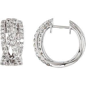 Criss-Cross Hoop Earrings