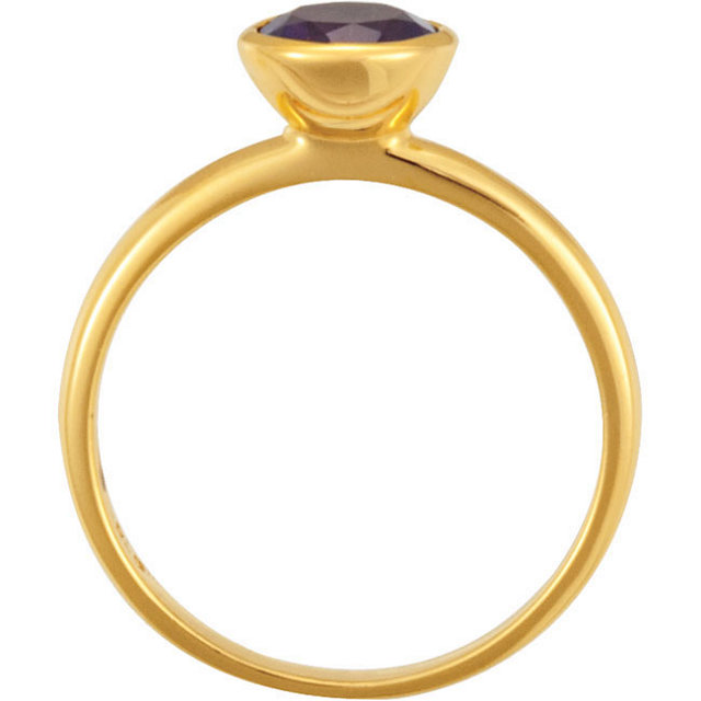 18K Yellow Vermeil Amethyst Stackable Ring Size 7