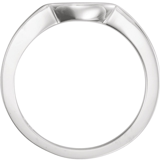 14K White Matching Band for 4.1 mm Round Ring