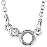 Two-Stone Bezel Set Necklace or Center
