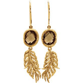 Be Posh® Honey Quartz Leaf Earrings