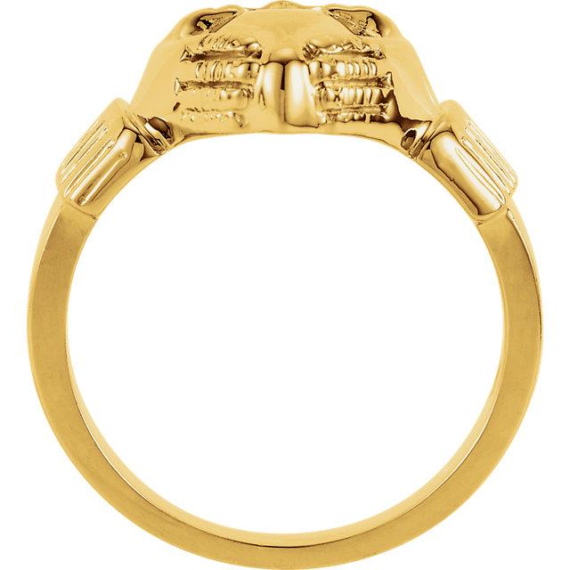 14K Yellow 14.5x10.5 mm Ladies Claddagh Ring