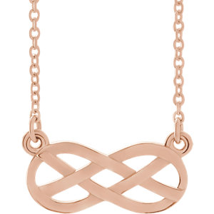 Necklace / Chain , Infinity-Inspired Knot Design Necklace