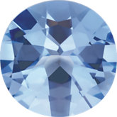 Round Imitation Aquamarine