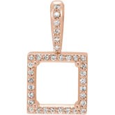 Square 4-Prong Halo-Style Pendant