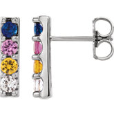 Accented Bar Earrings