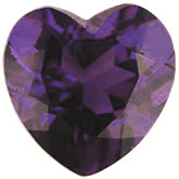 Heart Imitation Amethyst