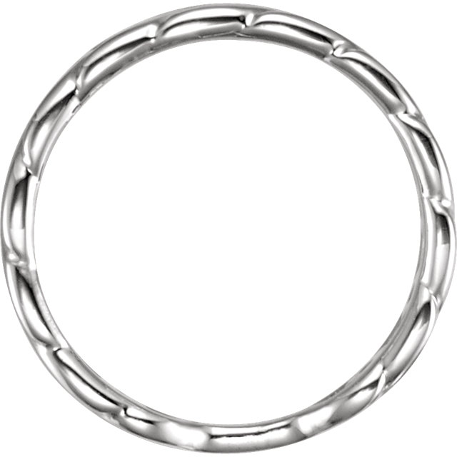 Sterling Silver Interlocking Stackable Link Ring