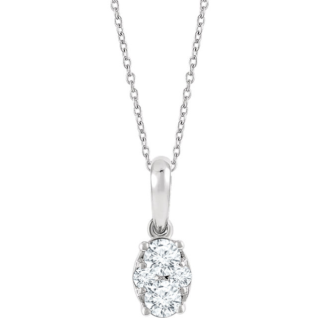 14K White 1/3 CTW Diamond 16-18