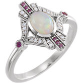 Accented Multi-Stone Ring