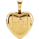 Heart First Communion Locket