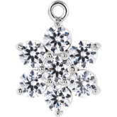 Seven-Stone Flower Cluster Dangle