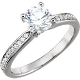 1/10 CTW Diamond Semi-Mount Engagement Ring