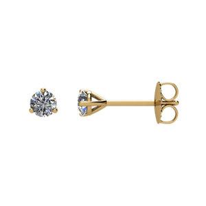 Earrings , 14K Yellow 1/5 CTW Diamond Stud Earrings