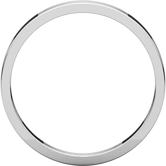 14K White 2.5 mm Flat Band