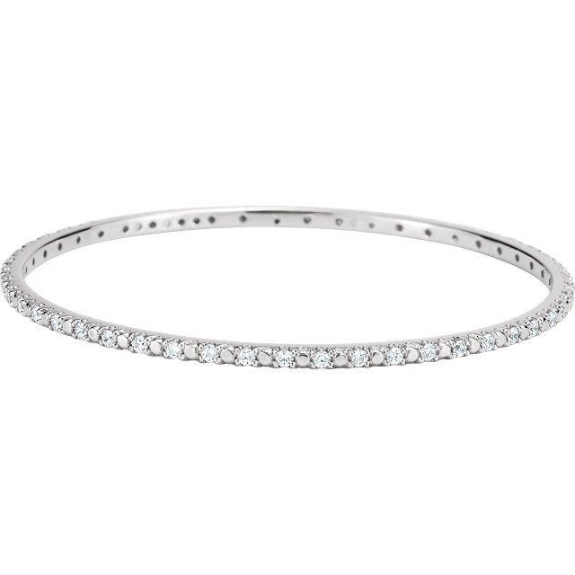 Sterling Silver Cubic Ziconia Bangle Bracelet