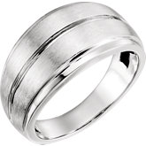 Men's Grooved Ring