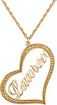 14K Yellow Nameplate Heart Necklace