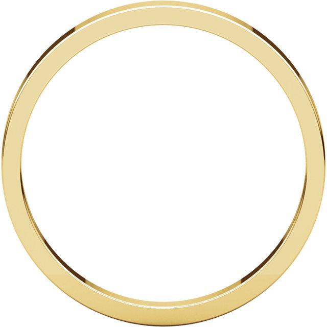 14K Yellow 2.5 mm Flat Band Size 4