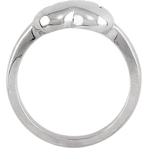 Sterling Silver Love Heart Fashion Ring