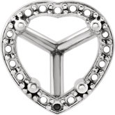 Heart 4-Prong Halo-Style Setting for Earring Assembly