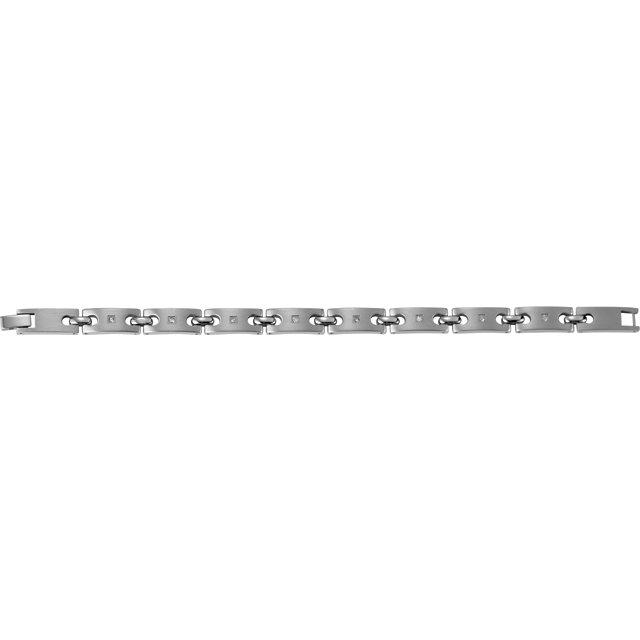 Stainless Steel Bracelet with .08 CTW Diamonds