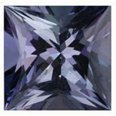 Square Genuine Tanzanite (Black Box)