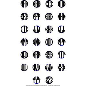 sterling silver 3 letter block monogram necklace
