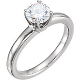 Comfort-Fit 4-Prong Tall Solitaire Engagement Ring