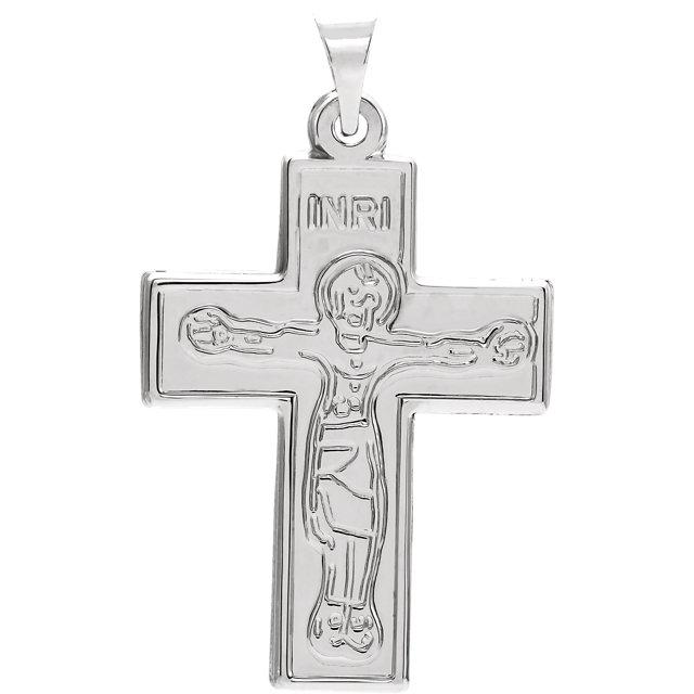 Sterling Silver 23.5x18mm Crucifix Pendant