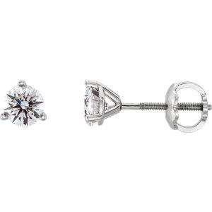 Earrings , Platinum 1/4 CTW Diamond Earrings