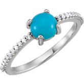 Cabochon Accented Ring