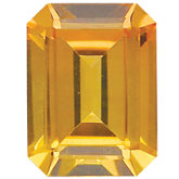 Emerald/Octagon Imitation Citrine